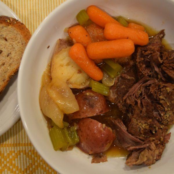 instant pot pot roast and bread