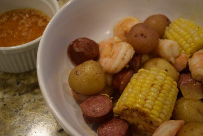 instapot shrimp boil butter