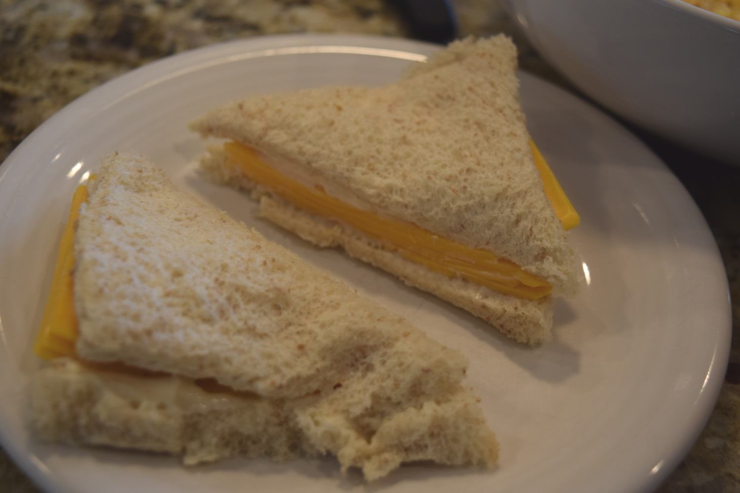 cheese sandwhich triangles