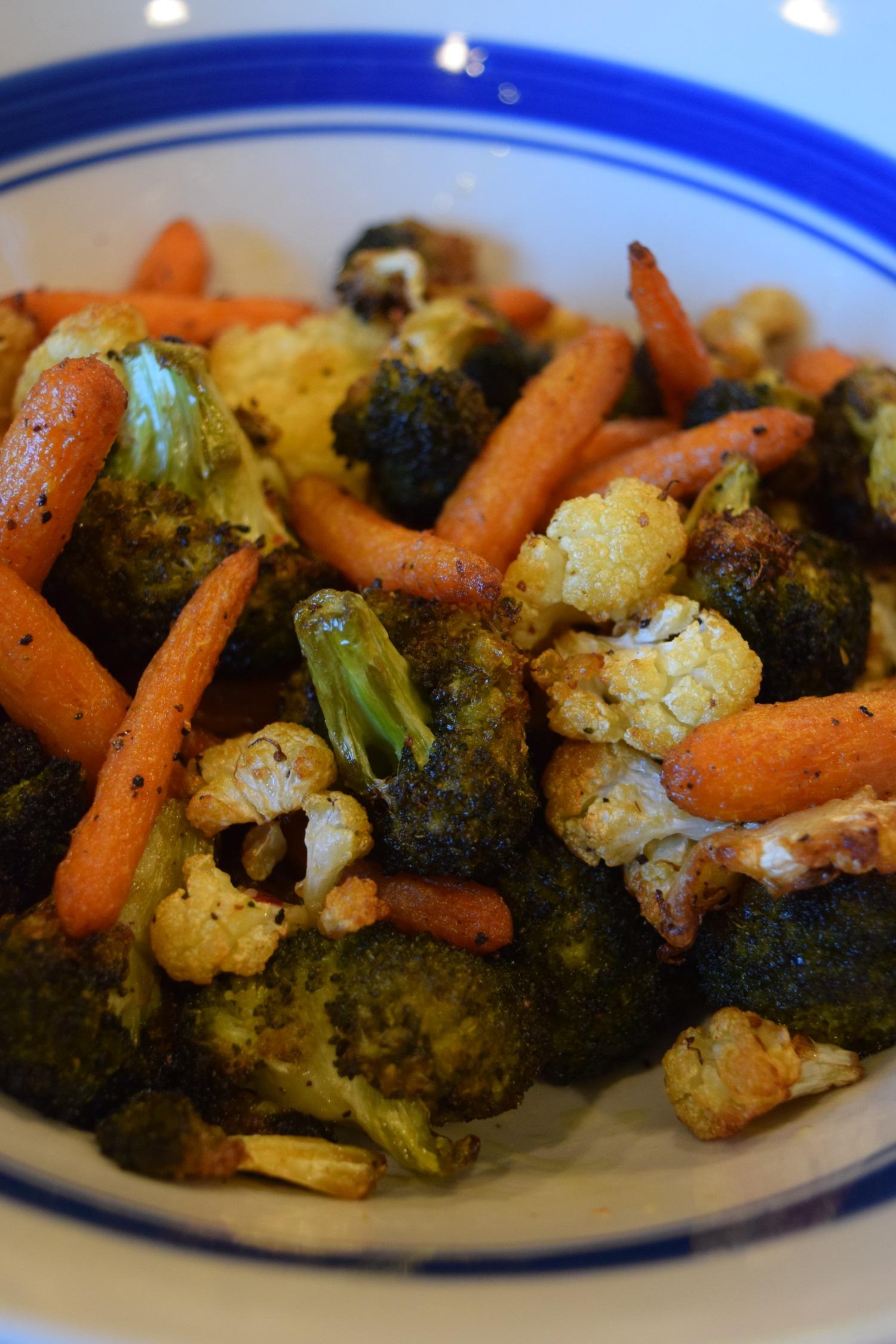 roast vegetables in air fryer
