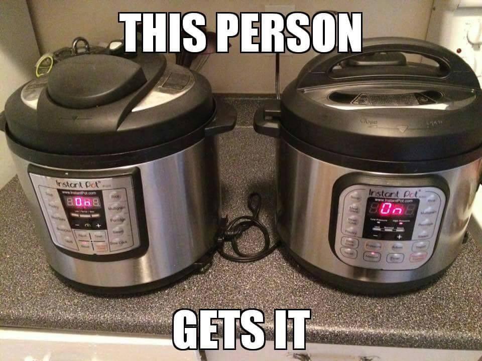 two instant pots meme