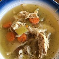 Instant Pot Healthy Chicken Soup (Keto, AIP, Whole30)