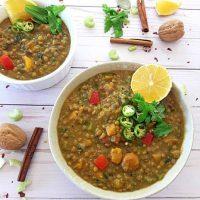 Moroccan Lentil Stew- Vegan, GF