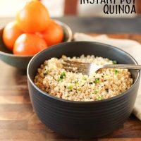 Gluten Free Sesame Orange Instant Pot Quinoa (Vegan)
