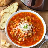 Instant Pot Minestrone Soup - Pressure Cooker Minestrone Soup