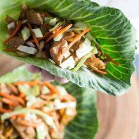 Instant Pot Low-Carb Mu Shu Pork Tacos