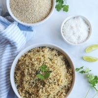 Instant Pot Quinoa with (optional) Coconut, Lime, and Cilantro