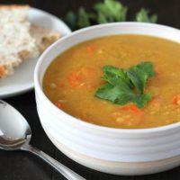 Curried Instant Pot Split Pea Soup