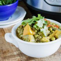 Instant Pot Vegetable Curry (vegan)