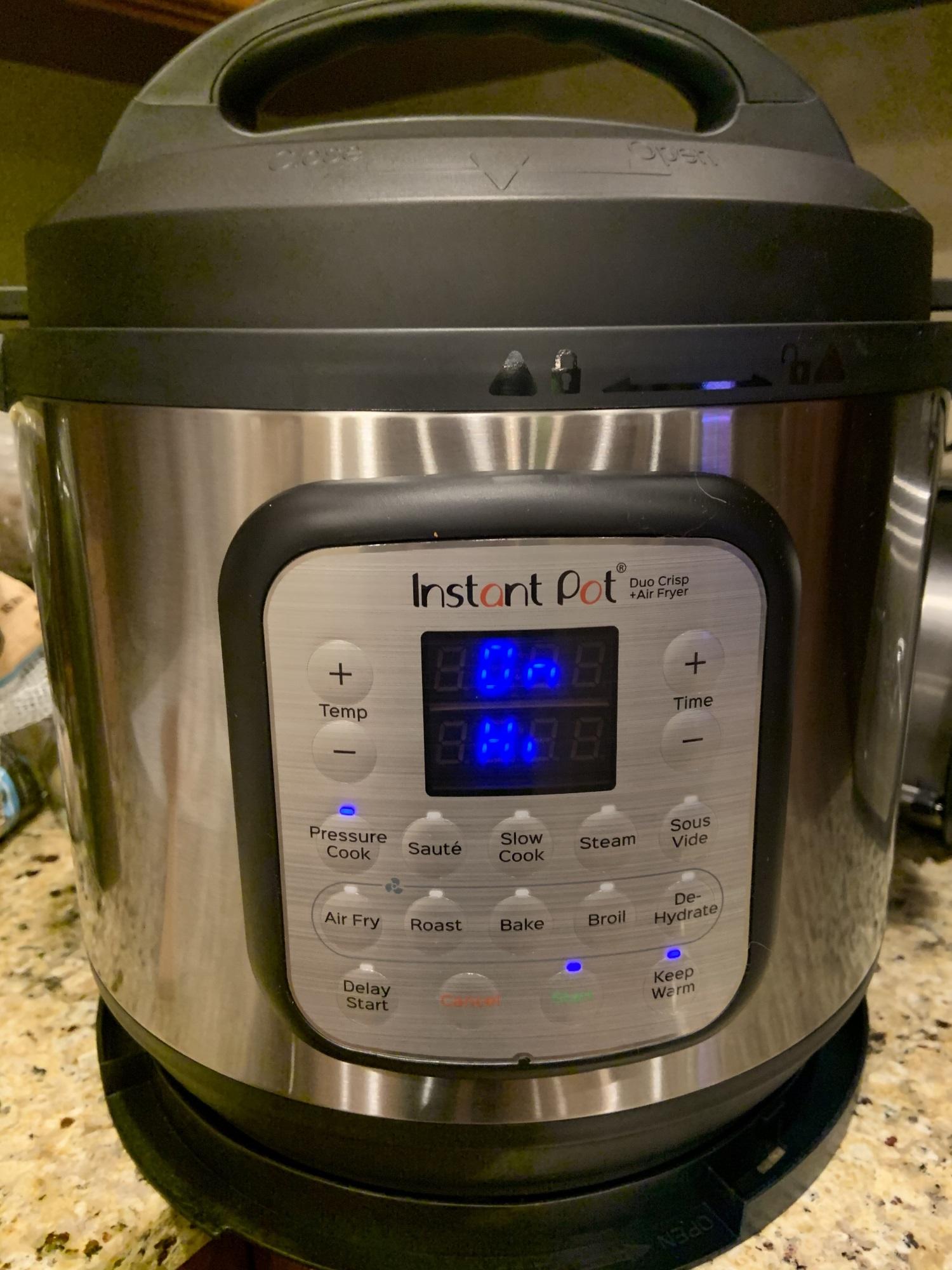 Instant Pot Duo Crisp Pressure Cooker Air Fryer