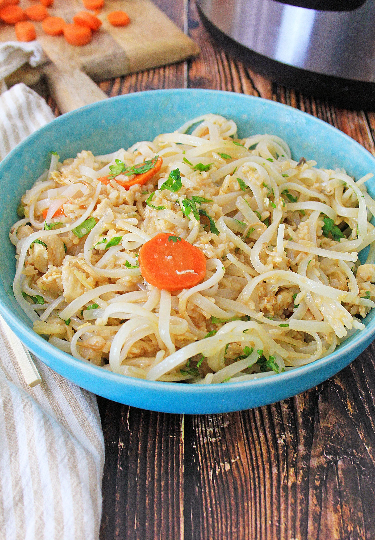 Instant Pot chicken fried rice pad Thai style