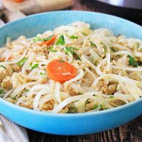 Instant Pot Pad Thai With Chicken Fried Rice