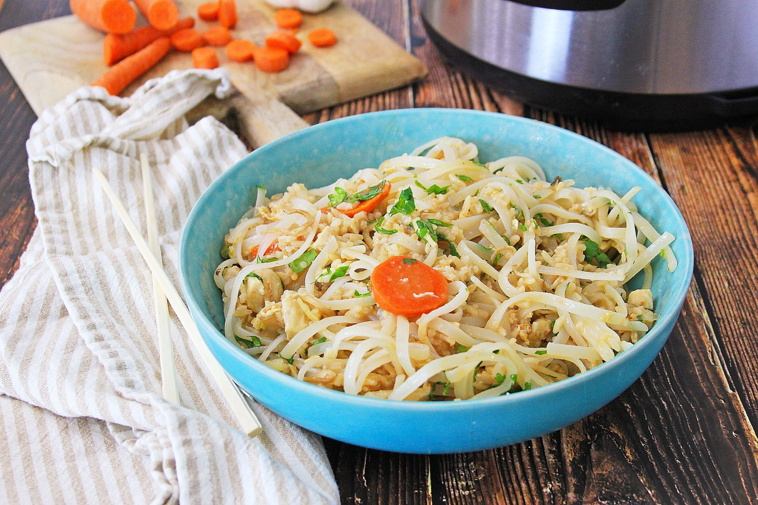 Instant pot pad thai chicken fried rice