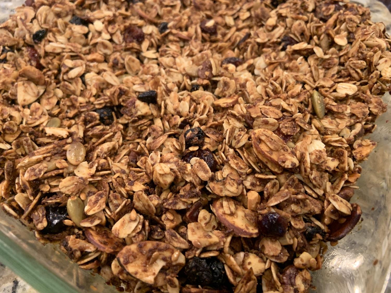 air fryer granola close up