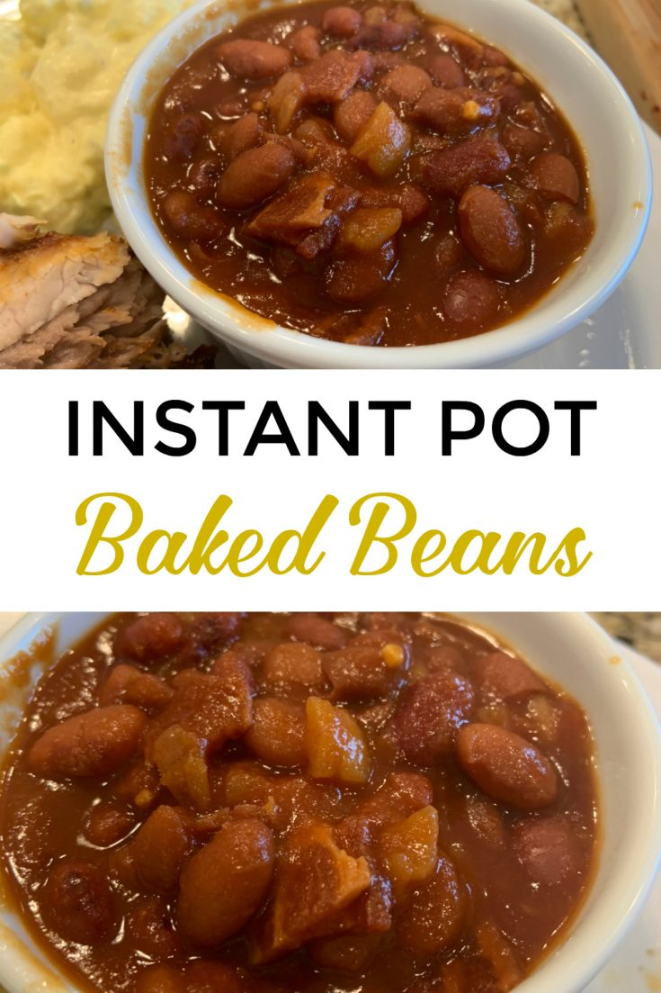 These easy Instant Pot baked beans with bacon are with dry no soak beans and made from scratch. They can be made healthy, vegan or vegetarian by omitting the meat. This is one of my favorite pressure cooker recipes! instantpotcooking #instantpot #instantpotcooking #bakedbeans