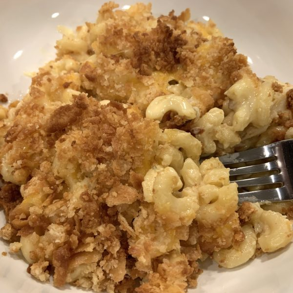 Instant Pot Duo Crisp baked macaroni amd cheese