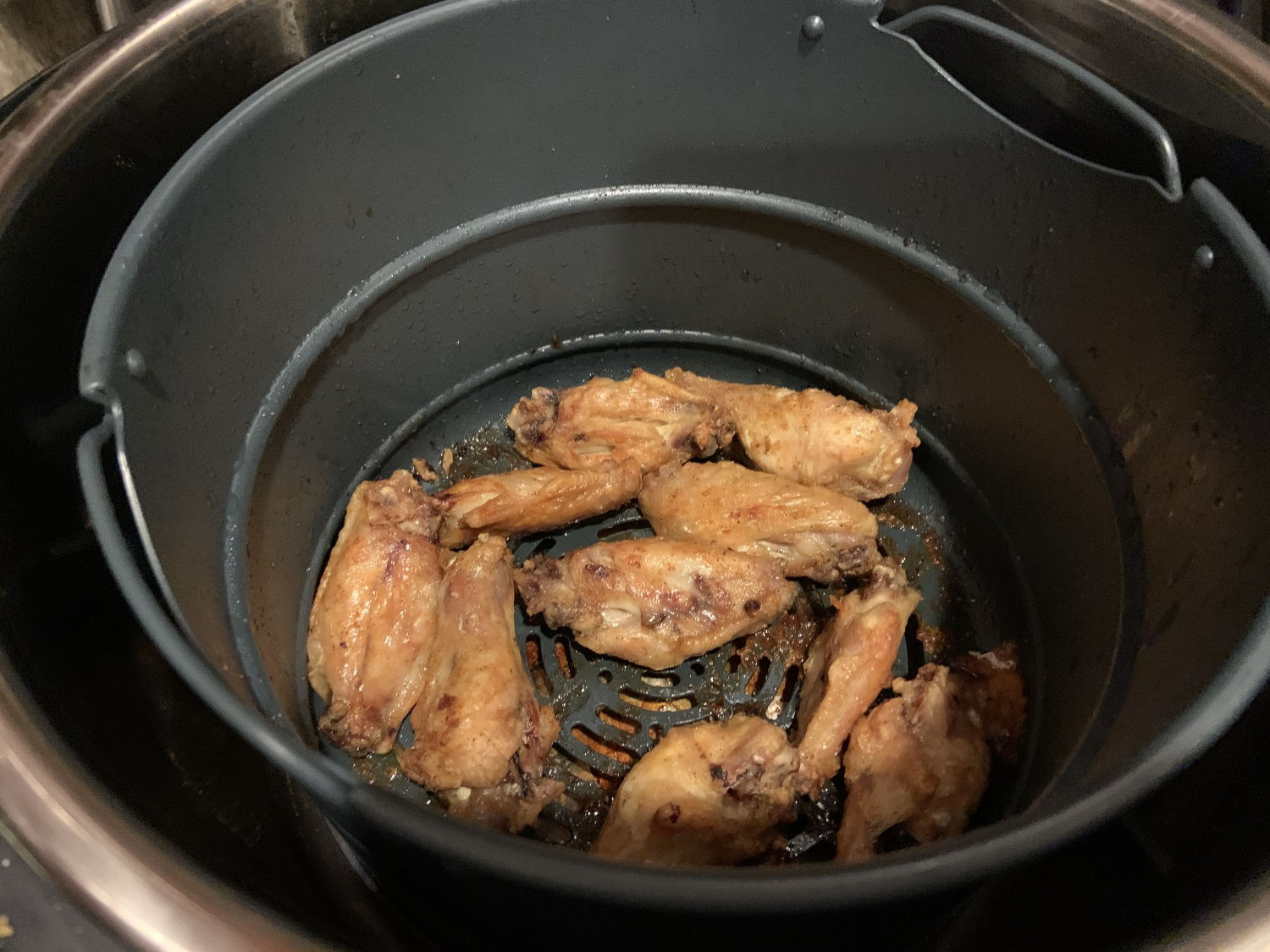 Ninja Foodi or Instant pot Duo Crisp crispy chicken wings