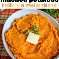 Air Fryer Mashed Potatoes - Traditional or Sweet Potato Mash!