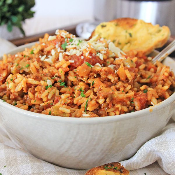 spanish rice in bowl