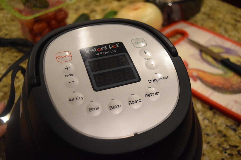 Instant Pot air fryer lid controls
